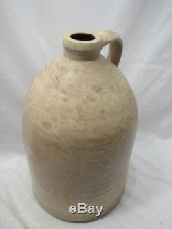 Antique Wm Rooker Easton Pa 3 Gal Jug Stoneware Crock Cream Whiskey