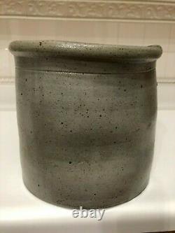 Antique salt glaze stoneware crock, cobalt blue marked #2, Great condition