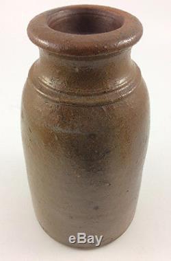 Antique salt glaze stoneware jar nice different form POTTERY crock jug