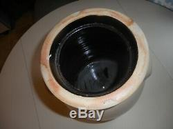 Antique signed John Burger decorated Stoneware Churn. Early New York Stoneware
