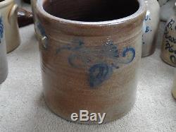 Antique stoneware crock 3 gallon Nj