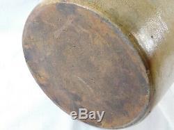 Atq Woolever & Skinner Little Falls N. Y. Cobalt Salt Glaze Stoneware Crock Jug