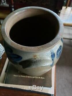 B. C. Milburn Stoneware Crock Washington DC Cobalt Blue All Around Top