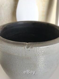 Baltimore Stenciled Salt-glazed Stoneware Crock Half Gallon