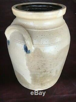 Beautiful salt glaze stoneware crock from Hudson NY