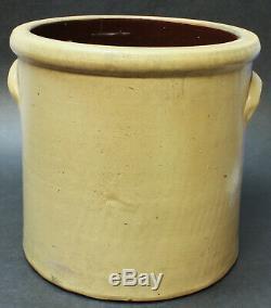 Bradly & Ryan Ellenville NY 3 Gallon Cobalt Blue Flower Stoneware Crock c1880s