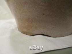 C1840s Goodwin & Webster (Hartford CT) Cobalt Ovoid Stoneware handled crock