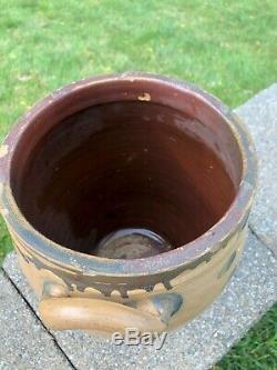 Clarkson Crolius, C. Crolius Cobalt Decorated Stoneware Ovid Jug Crock