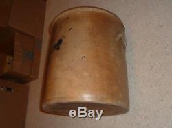Cobalt (1868 North Alton, IL Buck Inn Western Pottery) Jar 5 With Kiln Furniture