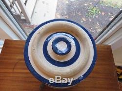 Crock & Lid Stoneware Water Dispenser Primitive Antique 2 gallon Jug Spout BW1