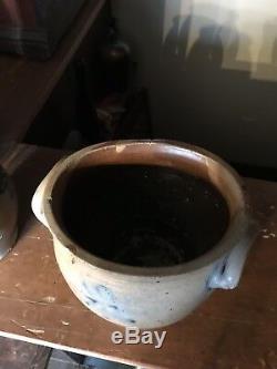 Crolius One Gallon Stoneware Ovoid Crock. C Crolius Attributed