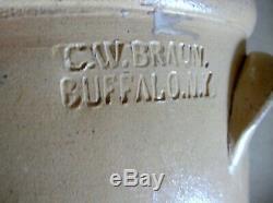Cw Braun Buffalo Ny 4 Gallon Stoneware Crock