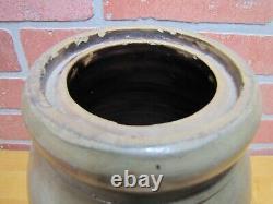 DONAGHHO PARKERSBURG W V Antique Stoneware Pottery Jar Crock Blue Gray