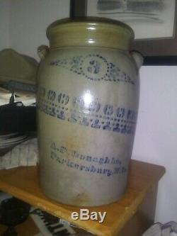 Donaghho Parkersburg West Virginia wv Ohio River Stoneware 3 gallon crock