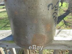 EARLY 4 GAL withEARS STONEWARE Crock TORNADO Fancy BEE STINGER/Lazy 8 RED WING