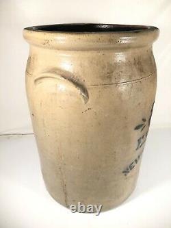 ES&B Stoneware Crock 8 Gallon New Brighton PA Antique Churn Pot Made In USA