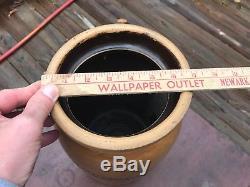 E B Taylor Richmond Va A P Donaghho Crock Stoneware Decorated Zipper