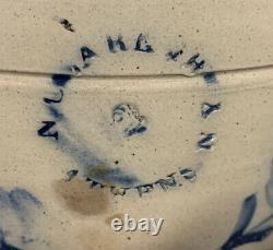 Early 1843-1890 N. Clarke Jr, Athens, N Y stoneware crock