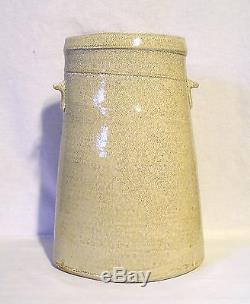 Elliptical or Oval Shaped Antique Salt Glazed Stoneware Pickling Jar Maker Mark