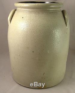 Exemplary J Norton Blue Decorated Bennington Stoneware Crock 19th cent