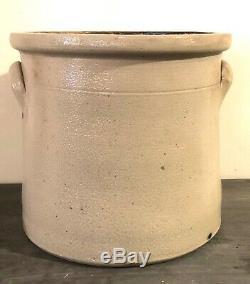 Exquisite! Reidinger & Caire Poughkeepsie NY Salt Glaze Stoneware Crock Cobalt B
