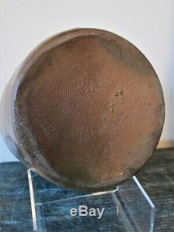 FINGER-DECORATED STONEWARE CROCK or JAR