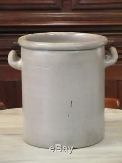 French grey stoneware glazed olive pot large