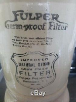 Fulper Pottery WaterCooler & Filter Crock Fulper Bros, Flemington, NJ Stoneware