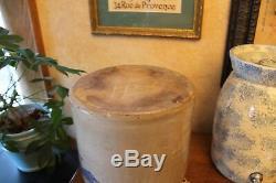 Fulper Stoneware Crock NJ BIRD SALT GLAZE DESIGN with LID #2 Pottery