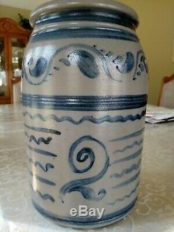 Greensboro Pa decorated Stoneware crock