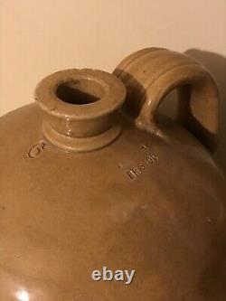 HUGE Antique Stoneware Jug Crock James George Hawley Bristol England 1800s