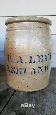 H. A. Levi Ashland Kentucky KY Ohio River Stoneware Jar crock Scarce Boyd County