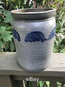 Hamilton & Pershing Johnstown PA Decorated Stoneware Crock 1 Gal Antique RARE