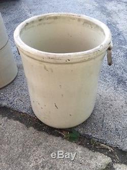 Huge Antique Vintage 20 Gallon Crock Western Stoneware Monmouth ILL Glazed