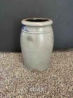 Jas. Hamilton & Co Greensboro, PA Cobalt Decorated Stoneware Canning Jar / Crock