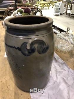 Jas Hamilton Greensboro PA 4 Gallon Stoneware Jar