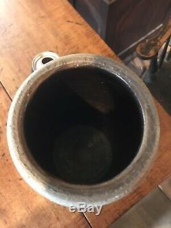 John P Eberhart New Geneva Pa Stoneware Jar Crock Bright