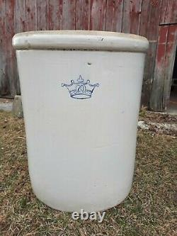 Large 20 GALLON Antique Stoneware Crock Crown, Local Pickup Only, Good Condition