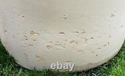 Large 20 GALLON Antique Stoneware Crock Crown Symbol