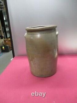 Large A. P. Donaghho Parkersburg, W. Va. West Virginia Stoneware Crock 4 Gallon
