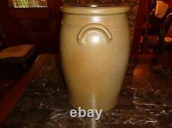 Large Antique Cobalt Blue Hamilton & Jones Stoneware Pottery 5 Gallon Crock