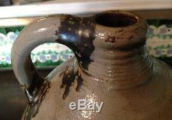 Lqqkrare Attributed Manhattan N. Y Incised Bird 2 Gallon Stoneware Jugc. 1800