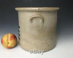 NR Antique Stoneware A+ 1G Crock with Primitive Cobalt, Northeastern US, c. 1875