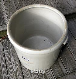 OLD 15 Gallon Pat. 1915 Red Wing Stoneware Crock w original Handles Mint NO SHIP