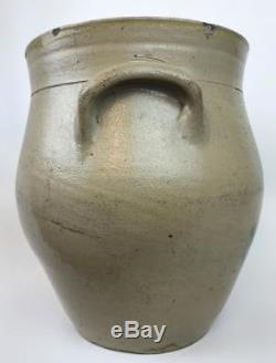 Old 1830s L Norton & Son Bennington VT 2 Gallon Stoneware Pottery Crock Jug Pot