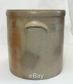 Old Antique 3 Gallon Stoneware Cobalt Blue BEE STING Design Handled CROCK