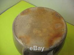 Old Blue Heart Decorated Pottery Stoneware Batter Crock Jug Primitive Farm Bowl