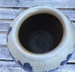 Ovoid Cobalt Decorated Stoneware Crock/Jar VA/MD Mint Condition AAFA
