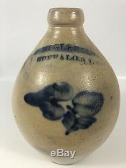 P. Mugler Buffalo NY Ovoid Stoneware Jug Beautiful Antique Crock