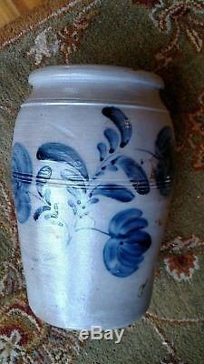 Pa decorated stoneware crock
